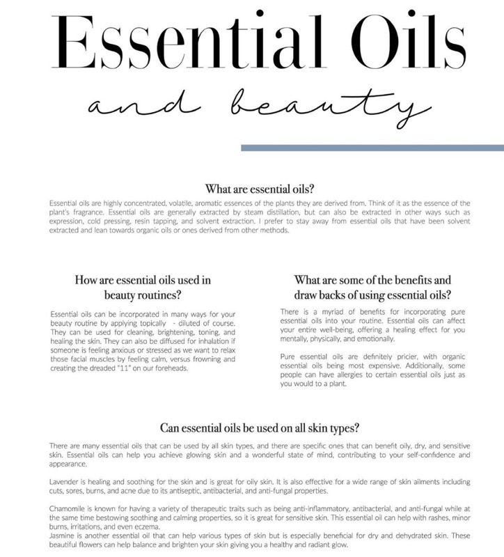 Essential oils and beauty